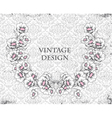 grunge damask background with floral frame vector image vector image