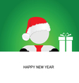 happy new year with snowman vector image vector image