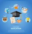 higher education banner vector image