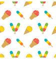 ice cream popsicles summer seamless pattern vector image vector image