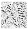 Interracial relationships Word Cloud Concept