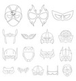 isolated object of hero and mask logo set of hero vector image