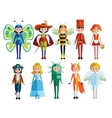 Kids And Carnival Costumes Collection vector image vector image