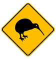 Kiwi Yellow Sign vector image