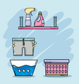 laundry equipment to clean the domestic clothes vector image vector image