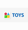 logo emblem for kids toys shop vector image