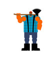 lumberjack with ax woodcutter with axe vector image vector image