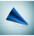 Megaphone icon isolated on blue background vector image