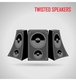 Music twisted speakers on gray vector image