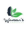 natural female beauty logo vector image vector image