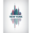 New York city architecture retro vector image