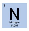 nitrogen icon vector image vector image