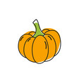 orange pumpkin icon vector image vector image