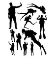 people activity silhouette vector image
