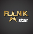 rank golden star inscription icon vector image vector image