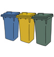 Recycling containers vector image vector image