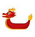 red dragon boat cartoon chinese vector image vector image