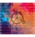 Retro bicycle on colorful geometric background vector image vector image