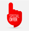 sale of special offers discount with the price is vector image