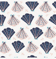 scallops flat hand drawn seamless pattern vector image