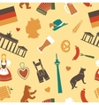 Seamless background with symbols of Germany vector image vector image