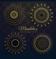 set four manadala designs vector image