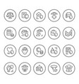 set round line icons insurance vector image vector image