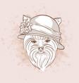 sketch of elegant dog vector image vector image