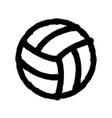 sprayed volleyball icon graffiti overspray vector image