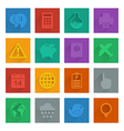 square media icons set 3 vector image