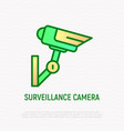 surveillance camera thin line icon vector image
