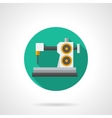 Tailor workshop flat round icon vector image vector image