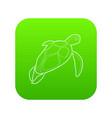 turtle icon green vector image