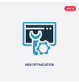 two color web optimization icon from programming vector image vector image