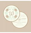 wedding invitation round vector image vector image