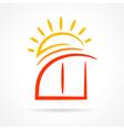 window emblem sun symbol element icon vector image vector image
