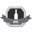 wine bottle design vector image vector image