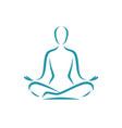 yoga logo meditation spa beauty symbol vector image