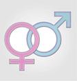 Gender symbol- girl and boy vector image