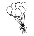 party balloons celebration icon vector image