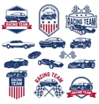 racing team set of the Cars icons vector image