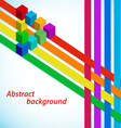 Abstract background with multicolored stripes vector image