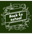 Back to school background with hand drawn icons on vector image vector image