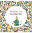 background on a theme of new year and christmas vector image