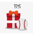 Baseball toy and game design vector image vector image