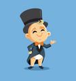 bawearing an elegant tuxedo cartoon vector image vector image