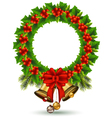 beauty Holly Christmas frame vector image vector image