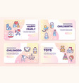 birth a child color linear icons set vector image vector image