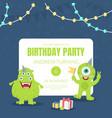 birthday party invitation of vector image