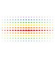 cloud spectrum halftone effect vector image vector image